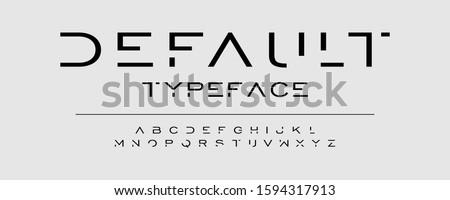 Modern typeface design. Abstract alphabet font set. Vector illustration for text.