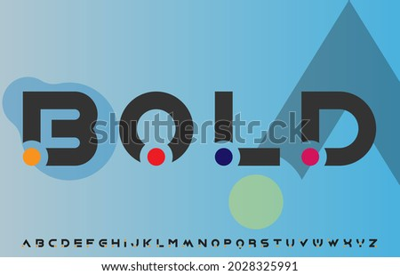 modern unique creative alphabet letters logo design Zdjęcia stock ©