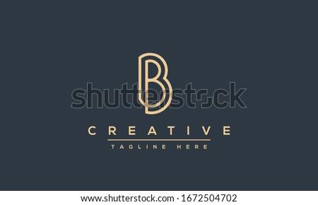 modern unique creative b logo