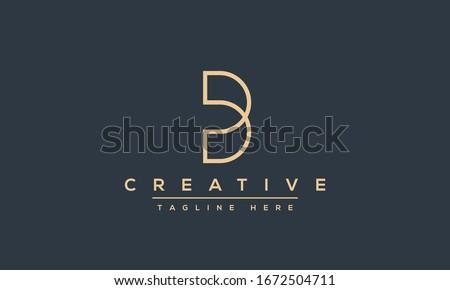 Modern unique creative B logo design, Minimal B initial based vector icon. Stock fotó ©