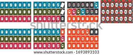 Modern Uno Cards Specific Design Foto stock ©