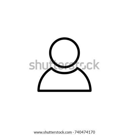 Modern user line icon. Premium pictogram isolated on a white background. Vector illustration. Stroke high quality symbol. User icon in modern line style.