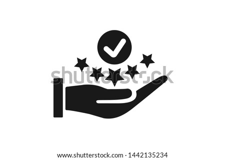 Modern value icon, top service rating icon on white background  Stockfoto ©