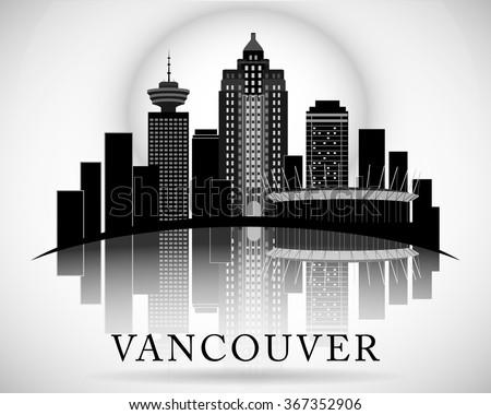 modern vancouver city skyline