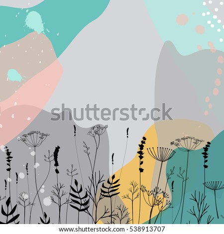 modern vector abstract floral