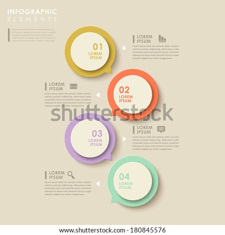 modern vector abstract speech bubble infographic elements