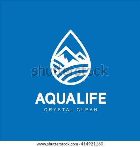 modern vector aqua life logo
