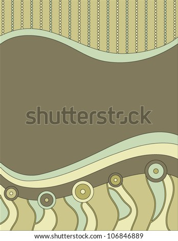 Modern vector background with circles, dots and stripes