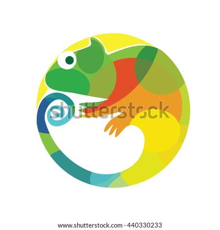 modern vector chameleon