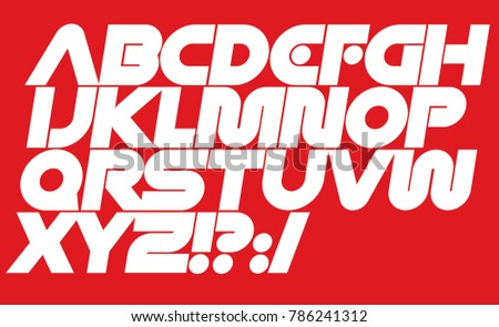 Modern vector dynamic font. Geometric type for logo or cover design