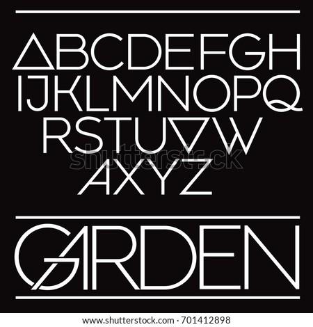 Modern vector font. Elegant geometric type