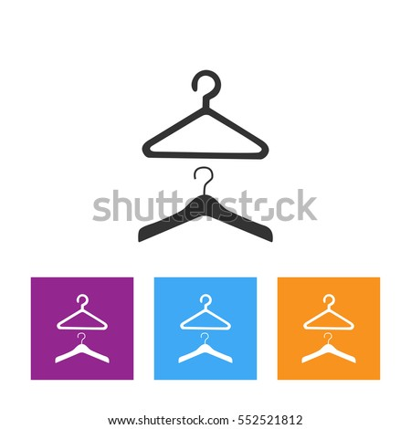 Modern vector icon of dress code and official wardrobe apparel.