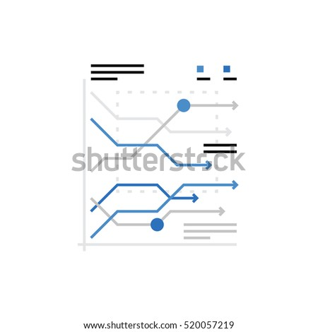Modern vector icon of marketing statistics, business trends chart and data analytics. Premium quality vector illustration concept. Flat line icon symbol. Flat design image isolated on white background #520057219