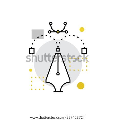 modern vector icon of vector