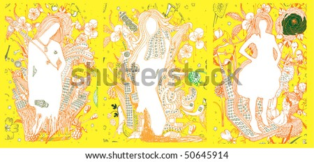 stock-vector-modern-vector-illustration-three-models-with-floral-and-industrial-elements-50645914.jpg