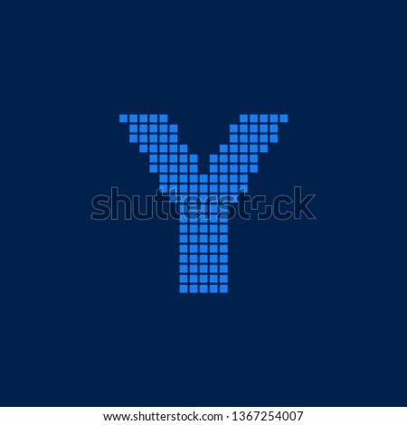 Modern Vector Logo Letter Y. Y Letter Design Vector Blocks Cubes