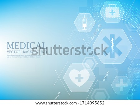 modern vector medical wallpaper.geometric hexagon shape.