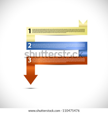 Modern vector presentation in ribbon form - stock vector