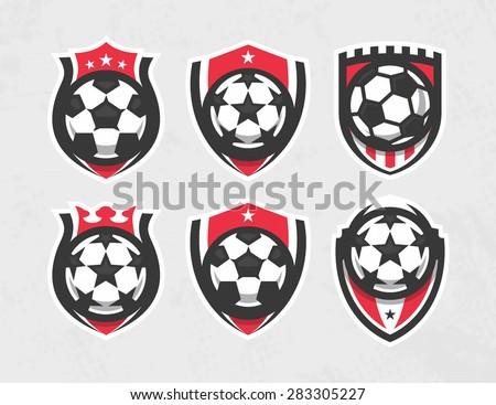 modern vector soccer logo set
