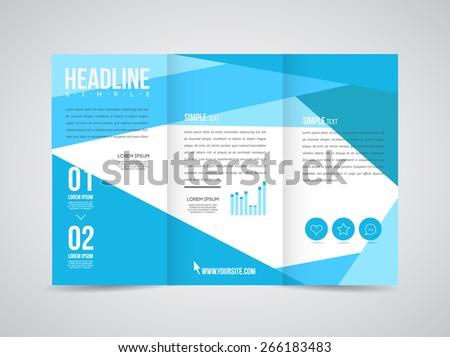 modern vector three fold brochure leaflet flyer design template