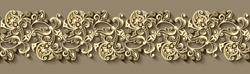 Modern vector volumetric floral ornamental stripe background. Trendy craft style illustration. 3d effect imitation