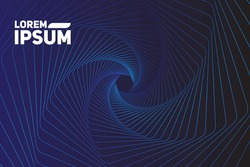 modern wave curve abstract presentation background. Luxury paper cut background. Abstract decoration, golden pattern, halftone gradients, Vector illustration. Dark blue background