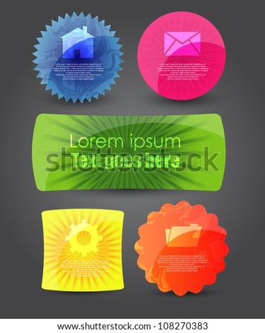 modern web banners/badges