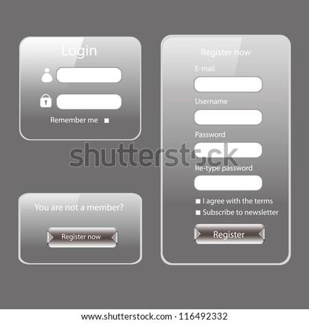Modern web card login form