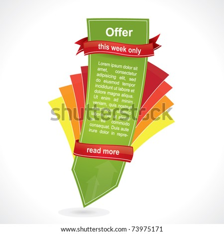 Modern web style vertical element, advertising tag