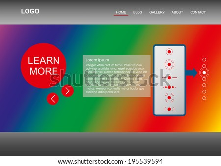 Modern Web Template Rainbow Element Is Substituting Your Image Slide Show Feel Free To Use It As It Is With Different Gra Nts Stock Images Page