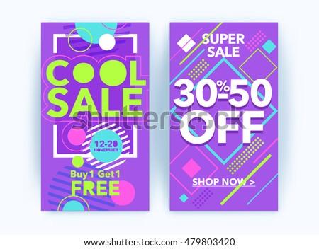 purple sale banner design with offer design for promotion download
