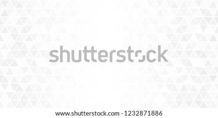 Modern white abstract background with triangles illustration, Geometric background vector with copy space
