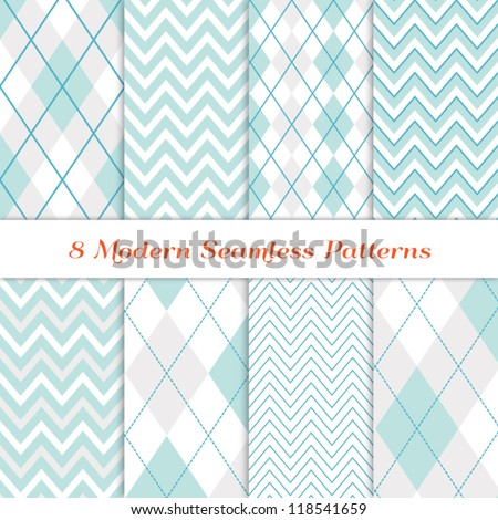 stock-vector-modern-white-christmas-backgrounds-seamless-chevron-and-argyle-patterns-in-aqua-blue-turquoise