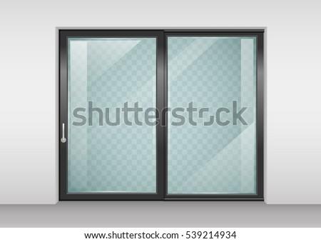 modern wide sliding door with