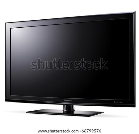 Modern widescreen tv lcd monitor, vector illustration.