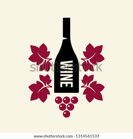 Modern wine vector logo sign for tavern, restaurant, house, shop, store, club and cellar isolated on light background. Premium quality vinery logotype illustration. Fashion brand badge design template