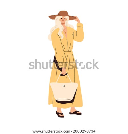 modern woman wearing fashion