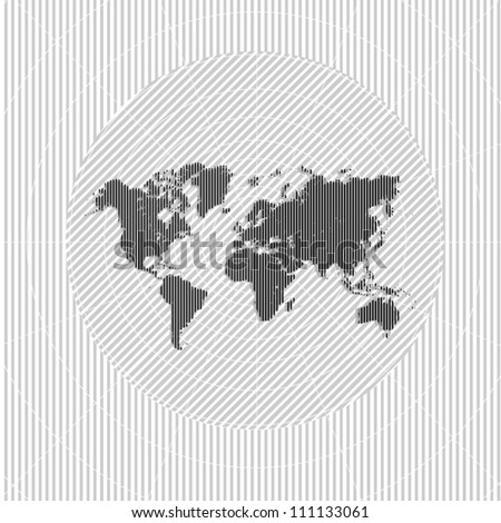 Modern world map background