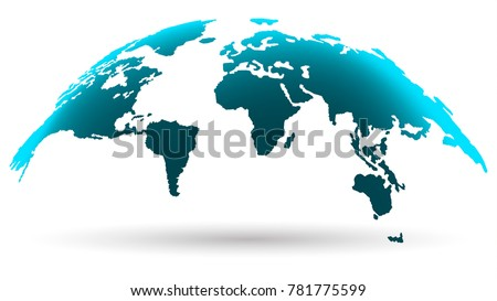 Globo vectorial descargue grficos y vectores gratis vector modern world map isolated on white background in bright aquamarine color digital progress concept gumiabroncs Image collections