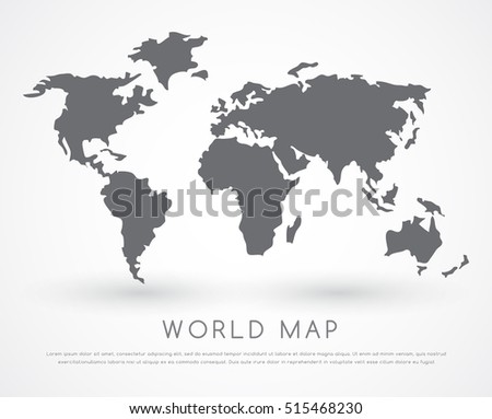 9 stylish vector world map vector download free vector art stock modern world map vector illustration gumiabroncs
