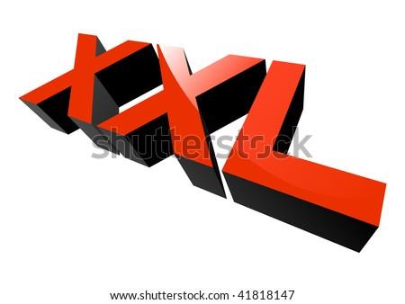 modern xxl sign - stock vector