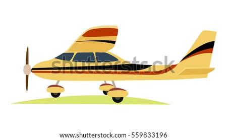 modern yellow aeroplane on