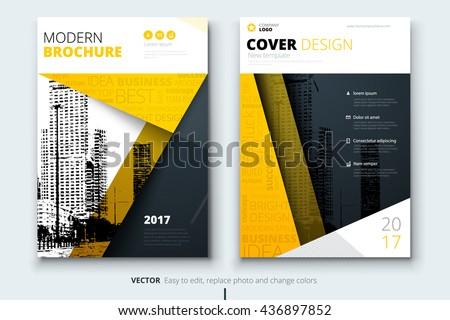 modern yellow brochure design