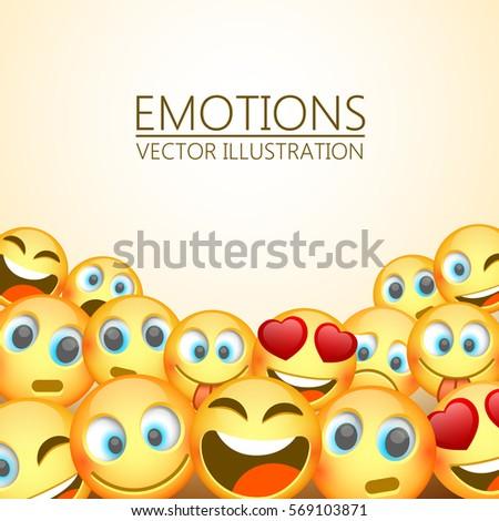 modern yellow laughing three