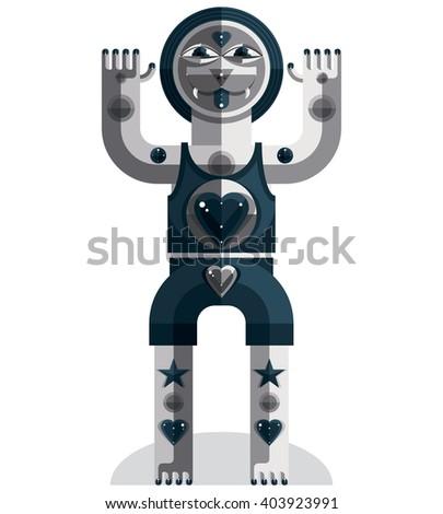modernistic vector illustration