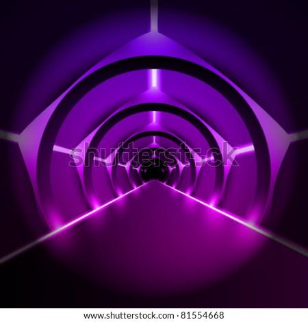 moderns vector runway/corridor illustration
