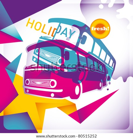 Modish holiday background with abstraction. Vector illustration.