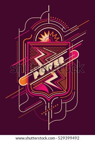 Modish style abstract illustration. Vector illustration.