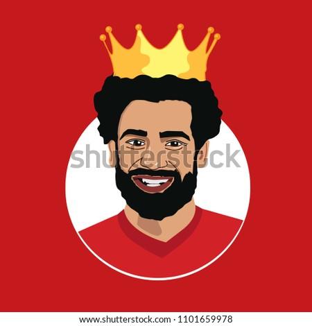 mohamed salah  egyptian king