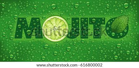 mojito name with lime slice